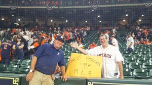 What do you like most about being a part of the Houston Astros grounds crew and what are some of the challenges in taking care of a professional athletic field?